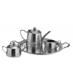 Pewter tea set, four pcs