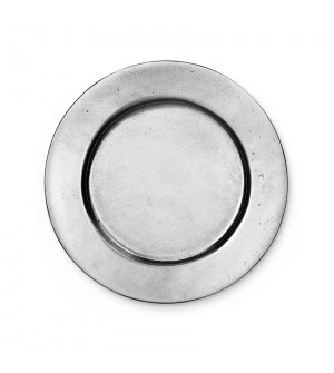 Pewter round smooth coaster ø cm 12