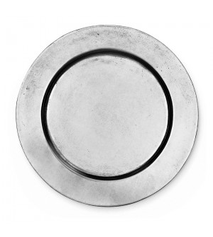 Pewter round smooth wine bottle coaster ø cm 15