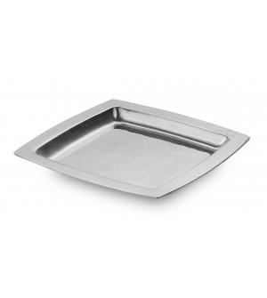 Pewter square dish cm 24x24