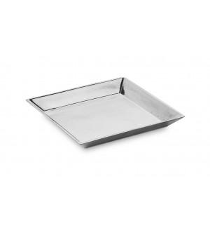 Pewter square dish cm 12x12 h 1,5