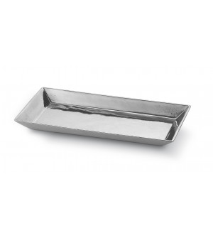 Pewter rectangular dish cm 15x28 h 2,3