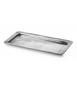 Pewter rectangular vanity tray 15,5x30,5 cm