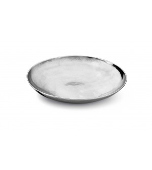 Pewter smooth round bowl ø cm 31