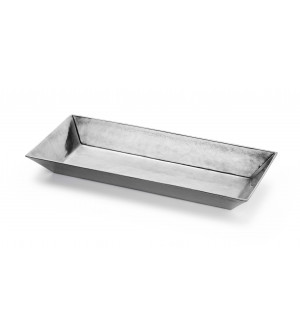 Pewter rectangular dish cm 20x44