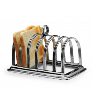 Pewter toast rack cm 9x16x12