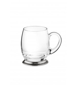 Pewter & glass mug 12 cm - 50 cl