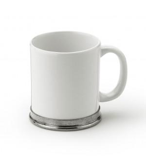 Pewter & ceramic mug cm 10