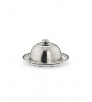 Pewter & Ceramic Domed Dish