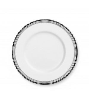 Pewter & ceramic dessert plate ø cm 21