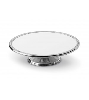 Pewter and ceramic cake stand ø cm 33 h cm 9