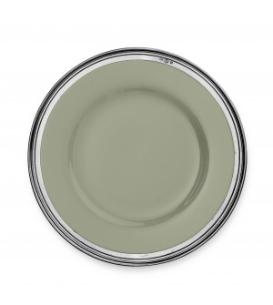 Pewter&ceramic charger ø cm 33,5