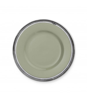 Pewter&ceramic dinner plate ø cm 29