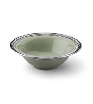 Pewter&ceramic cereal bowl ø cm 17,5