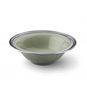 Pewter&ceramic cereal bowl ø cm 17,5