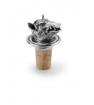 Pewter boar wine stopper h cm 7