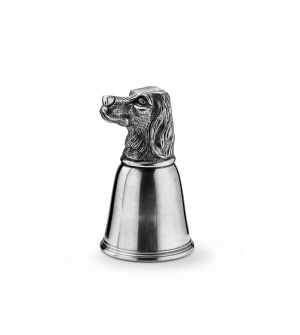 Pewter dog tumbler h cm 13,5 - cl 25