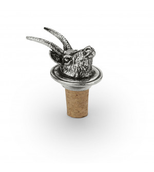 Wine stopper with pewter chamois head h 6,5 cm