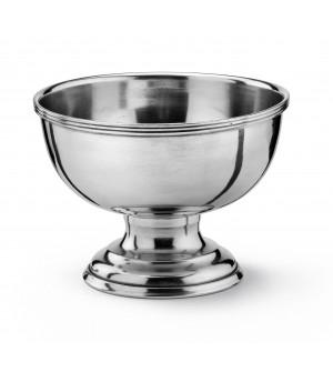 Pewter footed bowl ø cm 20,5 - h cm 14