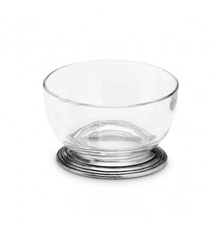 Pewter & crystal small bowl ø cm 10,5