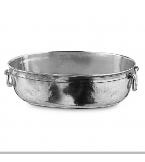 Pewter large oval bowl cm 30,5x40,5 h 12,5