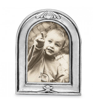 Arched Pewter Picture Frame