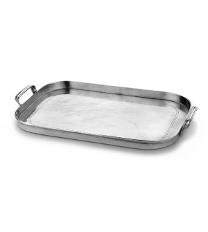 Pewter large rectangular tray cm 37x53