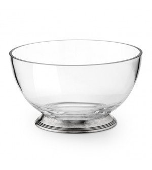 Pewter & Glass Salad Bowl ø 20 cm h 11
