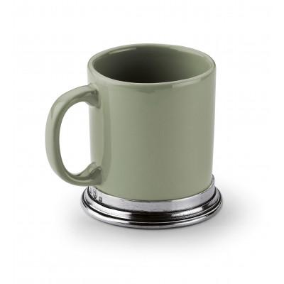 Kaffeebecher, salbeigrün h 11,5 cm