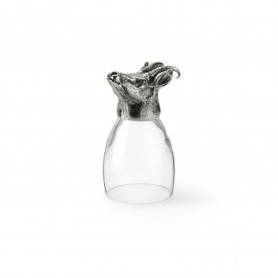 Zinn & Glas Becher, Gemse h cm 13