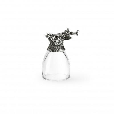 Schnapsglas Reh h cm 8