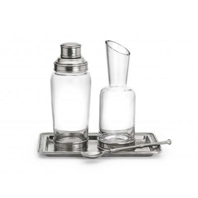 Zinn und Glas Cocktailset, 4-teilig