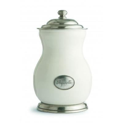 """Keramikdose mit Deckel, """"Biscotti"""" h 30 cm"""
