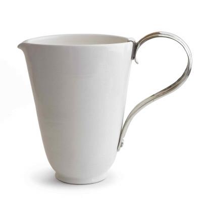 Keramik Krug mit Zinn Henkel h cm 29,5