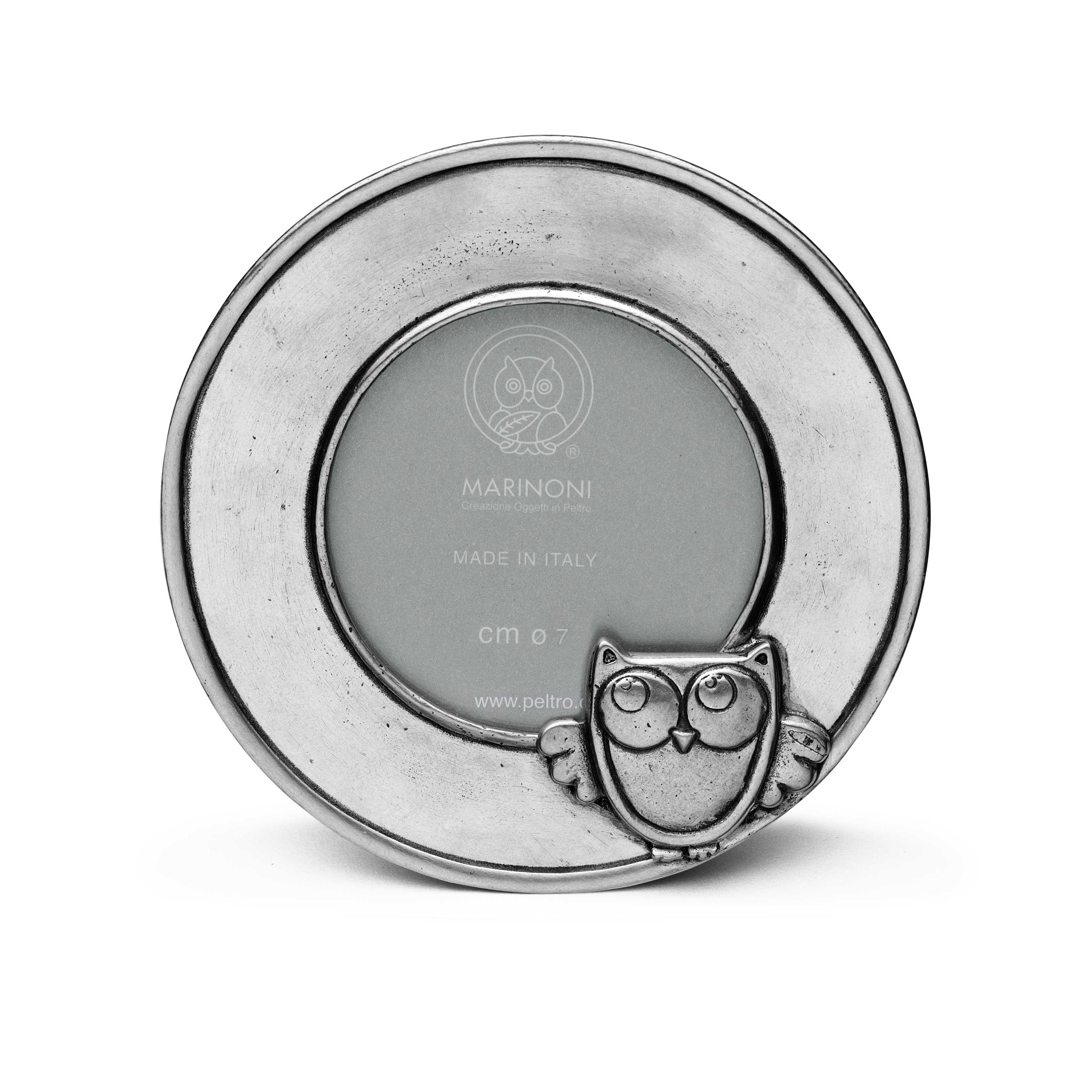 Bilderrahmen Baby, rund ø 10,5 cm (ø 7 cm) | Peltro - pewter shop online
