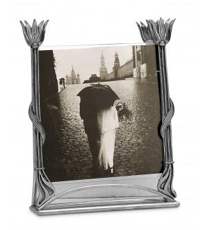 Art Deco Bilderrahmen, Zinn cm 24,5x31