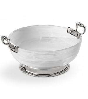 Glass&Zinn Schale, groß ø 27 cm h 11,3