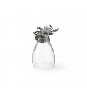 Zinn & Glas Becher, Elch h cm 13