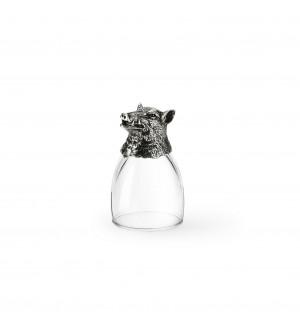 Schnapsglas Wildschwein h cm 8
