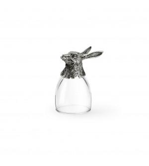 Schnapsglas Hase h cm 8