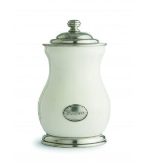 "Keramikdose mit Deckel, ""Farina"" h 26,5 cm"